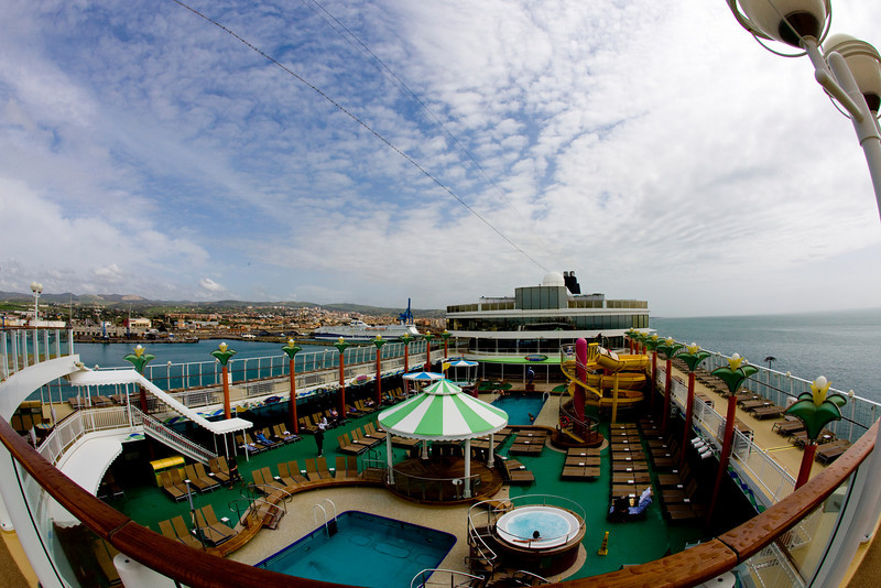 View from the top of the Norwegian Jade Civitavecchia Italy