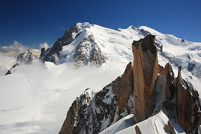 View back to Mont Blanc du Tacul