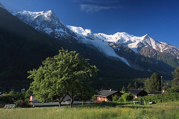 Chamonix, Aiguille du Midi and Mont Blanc