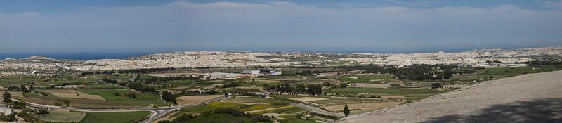 Panorama from inside Mdina Malta