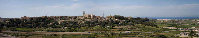 Panorama from inside Mdina Malta