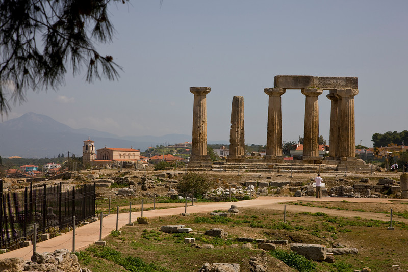 Temple of Apollo Ancient Corinth Nafplion Greece