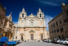 Cathedral inside ancient city of Mdina Malta