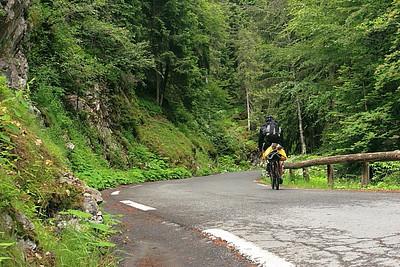 Riding south near Vaudogne