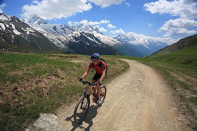 Col de Balme, Aiguille Verte and the Dru behind