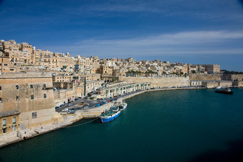 Arriving in Valletta Malta