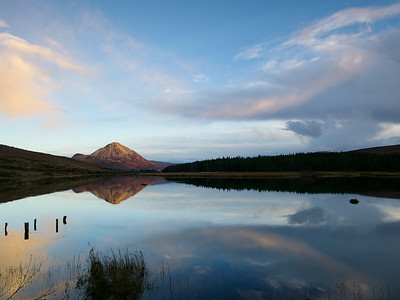 Mount Errigal Lough Nacung reflection co. Donegal