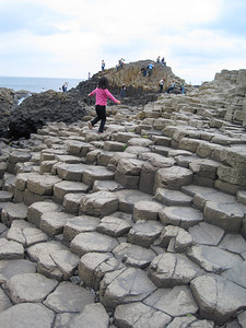 Giant's Causeway, a natural kid's playground.