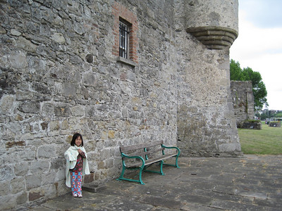Our princess in front of Enniskillen Castle