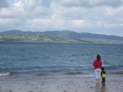 Mesmerized by the waves on Buncrana Beach, Co. Donegal, Ireland