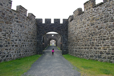 Entrance to the main Downhill Estate Ruins