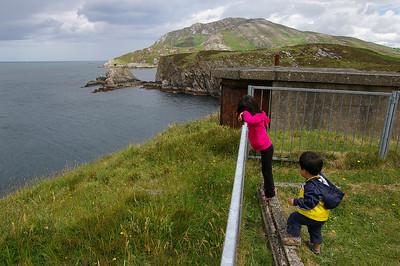 Looking hard for dolphins and whales; Near Dunree Point, Fort Dunree, Co. Donegal.