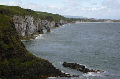 View of the coast from outside of Dunluce Castle
