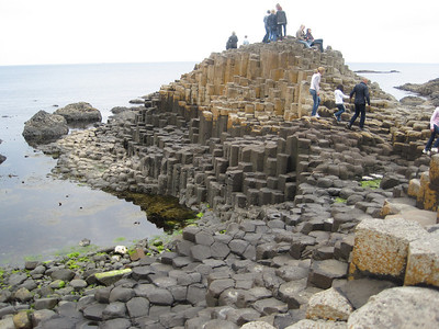 Giant's Causeway, North Coast of Ireland.  Unique hexagonal rock columns thought to be result of volcanic eruption, or, the work of Giant Finn MacCool.