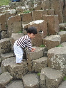 Giant's Causeway, a even better toddler playground