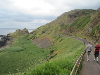 Road heading down to the Giant's Causeway; seems easy enough, but proven difficult coming back up carrying a 30 pound toddler.
