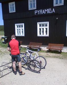 Bike trip with brasule to Jizerka and back.