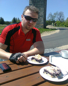 Bike trip with brasule to Jizerka and back.