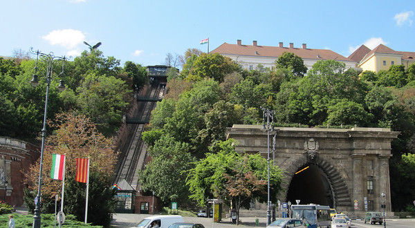 Buda Castle  Hill Funicular Railway-1870.  My apt was just down the street.  The funicular took me right to the weeklong Wine Festival above.  Awesome planning...