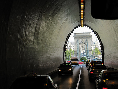 Tunnel thru the hill-Budapest, Hungary