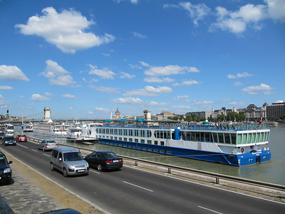Budapest-Ferries on the Danube.