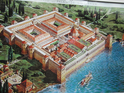 The original Diocletian's Palace - Split, Croatia