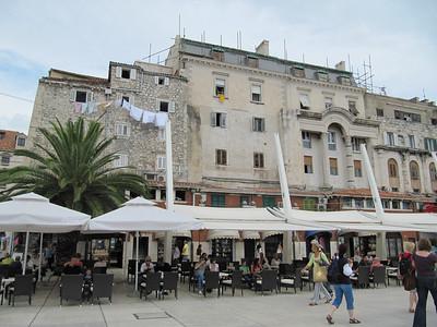 I like the laundry hanging out.  Split, Croatia