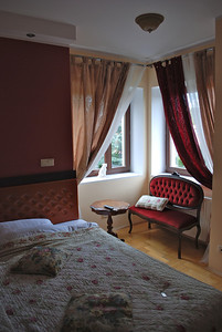 My room at Villa Isabel.It's bigger than it looks-armoire and a table in the entry.  But quite a bit smaller than my Krakow apt. Gdansk, Poland