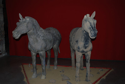 Exhibition of replicas of China's first emperor's  famous ancient terracotta army.  Budapest, Hungary