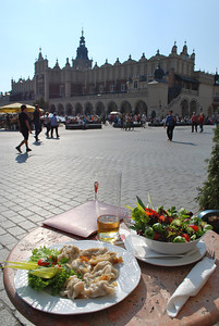 Front row seat for the people watching. Krakow, Poland.
