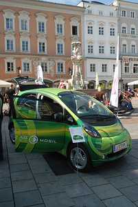 Cute little car. Linz, Austria.
