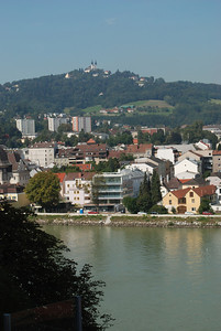 View across the river from the castle. Linz, Austria.