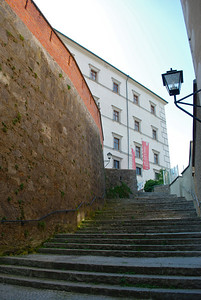 Stairs to the castle. Linz, Austria.