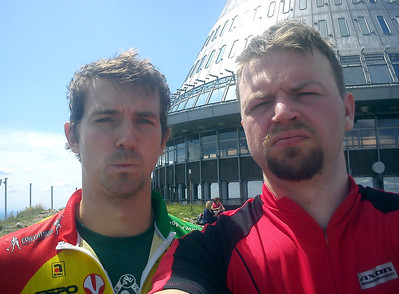 Mike in CZ. Bike trip to Jested.