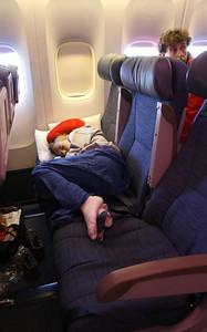 On board of Air Canada Boeing 777-300 flight AC874, Montreal - Frankfurt.
