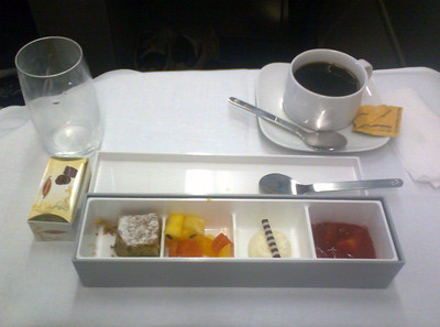 Ridiculous dessert by Lufthansa. The packaging is all plastic ...