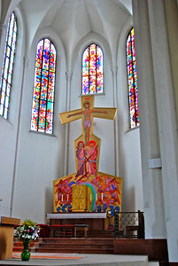 strangest altar I've seen yet. Salzburg, Austria