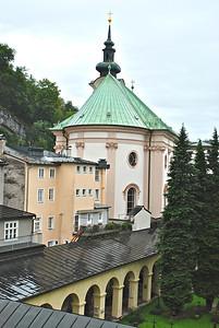view from my hotel window Salzburg, Austria