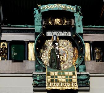 Crazy clock.  Vienna, Austria