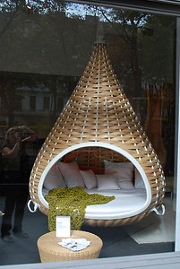 Store window display-looks comfy!  Vienna, Austria