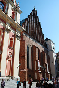 St John's Cathedral.  Originally built in 14th century, rebuilt after WWII. Warsaw, Poland