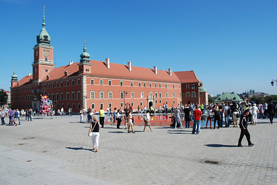 Royal Castle, originally built in 16th century-rebuilt in the 70's. Warsaw, Poland