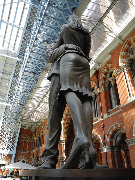 London: St Pancras Station, Paul Day sculpture, 2011