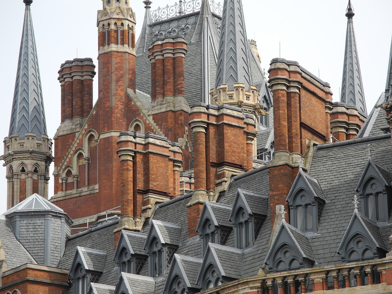 London: Spires & gables of St Pancras Hotel