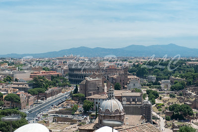 View from top of the Il Vittoriano - Monumento a Vittorio Emanuele
