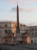 Obelisk and fountain at the Piazza Del Quirinal. This is the highest of Rome's seven hills.
