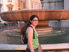 Alicia at the fountain in Piazza del Quirinale.