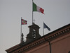 Italian flag over the Presidential palace.