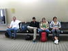 At San Diego airport waiting for our first leg to Chicago to board.