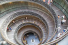 Spiral staircase at the Vatican in Rome, Italy, with Cori and Jessica Crenshaw.